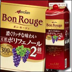 【送料無料】メルシャン ボン・ルージュ ボックス 赤1.8Lパック×2ケース(全12本)