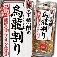 【送料無料】宝酒造 宝焼酎の烏龍割り480ml缶×2ケース(全48本)