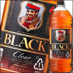 【送料無料】ニッカウヰスキー ブラックニッカ クリア ペットボトル4L×1ケース(全4本)