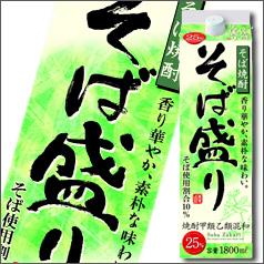 【送料無料】合同 そば焼酎 そば盛り 25度1.8Lパック×2ケース(全12本)