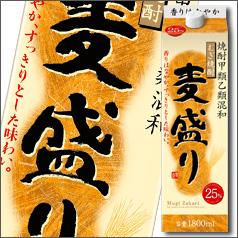 【送料無料】合同 むぎ焼酎 麦盛り 25度1.8Lパック×2ケース(全12本)