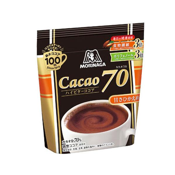 【送料無料】森永 森永ココア カカオ70 200g袋×2ケース(全48本)