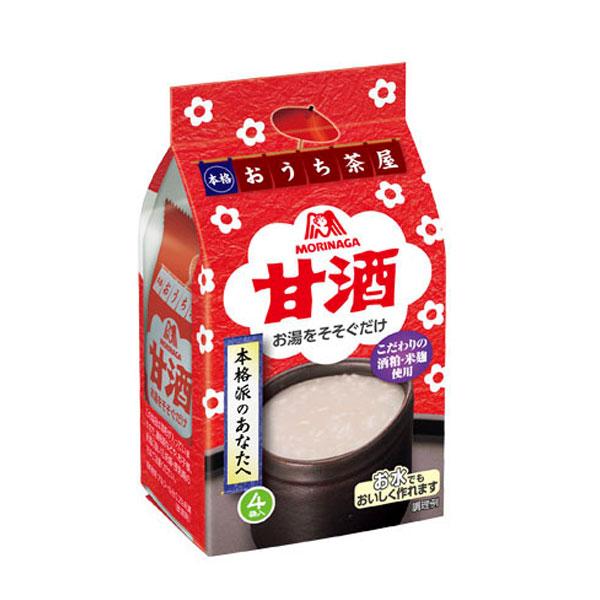 【送料無料】森永 甘酒4袋入×2ケース(全40本)