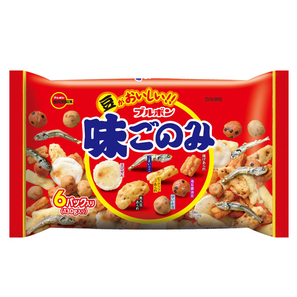 北海道は850円 沖縄は3100円の別途送料を頂戴します 送料無料 ブルボン 味ごのみファミリー130g×2ケース 限定タイムセール 送料0円 全48本