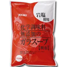 ユウキ 化学調味料無添加のガラスープ700g×1ケース(全10本)