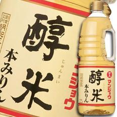 【送料無料】マンジョウ 醇米本みりんハンディペット1.8L×1ケース(全6本)