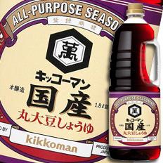【送料無料】キッコーマン 国産丸大豆しょうゆハンディペット1.8L×2ケース(全12本)