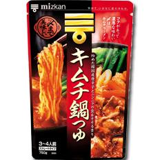 ミツカン 〆まで美味しい キムチ鍋つゆストレートタイプ750g(3~4人前)×1ケース(全12袋)