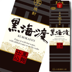 【送料無料】合同 本格芋焼酎 黒海度 25度1.8Lパック×2ケース(全12本)