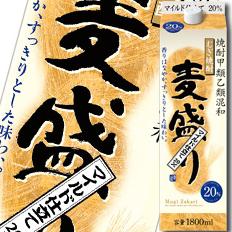 【送料無料】合同 むぎ焼酎 麦盛り 20度1.8Lパック×2ケース(全12本)