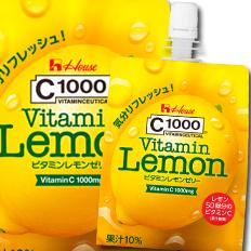 【送料無料】ハウス C1000ビタミンレモンゼリー180g×2ケース(全48本)