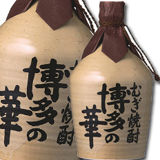 【送料無料】福徳長 25度 本格焼酎 博多の華 むぎ つぼ入り720ml×2ケース(全12本)