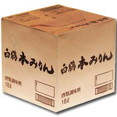 【送料無料】白鶴酒造 本みりん18Lキュービックコンテナー×1本