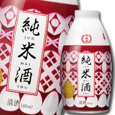 【送料無料】京都府・月桂冠 おちょこ付 純米180ml瓶×2ケース(全60本)