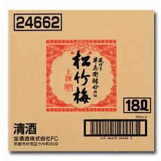 京都・宝酒造 上撰松竹梅 バッグインボックス18L×1本