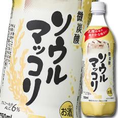 北海道は850円 沖縄は3100円の別途送料を頂戴します 送料無料 サントリー ソウルマッコリ750mlペットボトル×1ケース 記念日 誕生日/お祝い 全15本