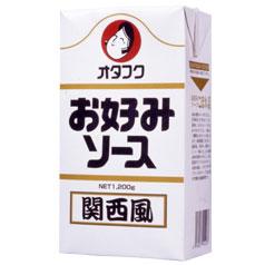 【送料無料】オタフクソース オタフク お好みソース関西風 紙パック1200g×2ケース(全30本)