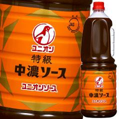 【送料無料】オタフクソース ユニオン 特級中濃ソース ハンディボトル1.8L×2ケース(全12本)