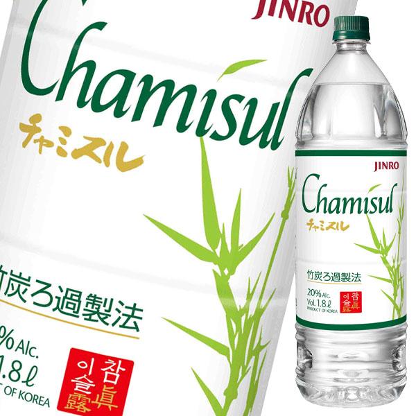 【送料無料】眞露 Chamisul(チャミスル)20度1.8Lペットボトル×2ケース(全12本)