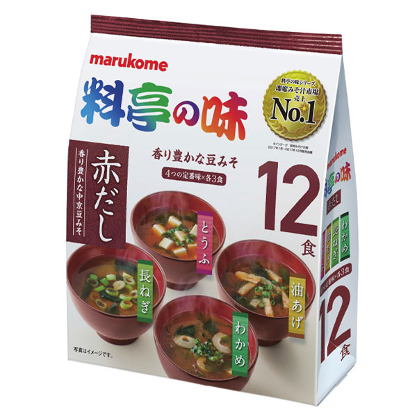 【送料無料】マルコメ お徳用 料亭の味みそ汁 赤だし12食入袋×1ケース(全48本)【欠品中】