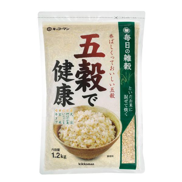 【送料無料】キッコーマン 五穀で健康1.2kg袋×2ケース(全24本)