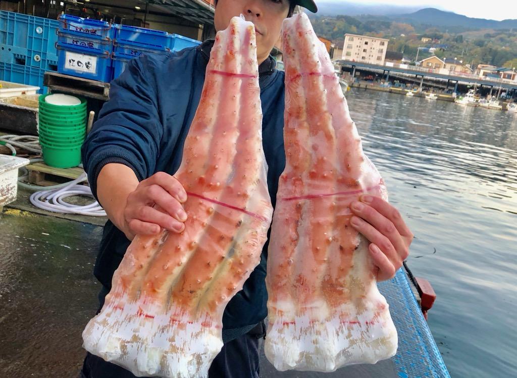 【 たらばがに・送料無料 】 たらば蟹 ・ボイル たらばがに 1箱(3.2Kg)4肩入り・身入り【8割以上】大満足!5L 特大サイズ【冷凍便】
