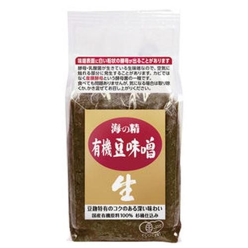 国内産原料100%使用濃厚な旨みがある 半額 国産有機豆味噌 1kg 在庫あり 海の精