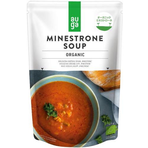 9種類の有機野菜が一度に摂れる旨味の詰まった自然食品のスープ AUGA OGミネストローネ(400g)【むそう】※キャンセル不可