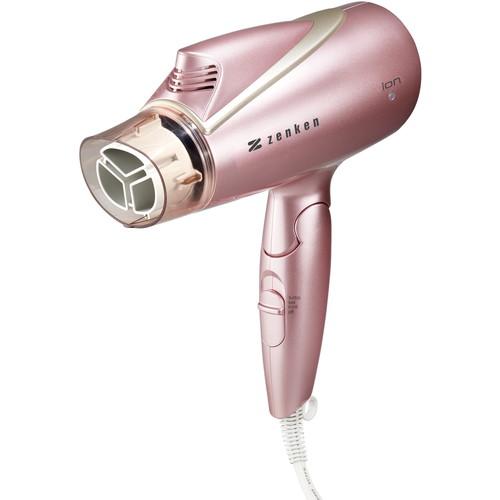 【メーカー直送品】電磁波低減ヘアードライヤー ピンク ZD-1000P ※送料無料 ※代引・同梱・キャンセル不可【ゼンケン】