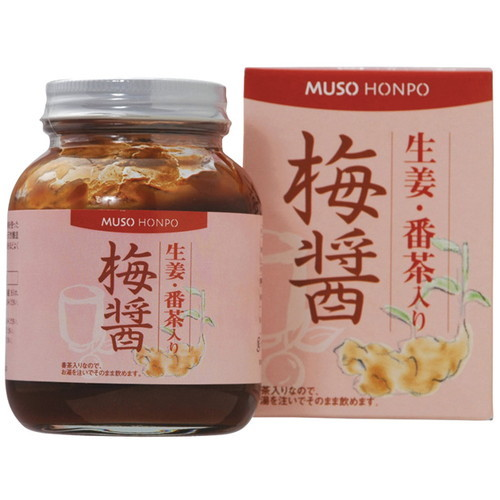 無双本舗 生姜・番茶入り梅醤250g( 梅醤番茶)×4個セット