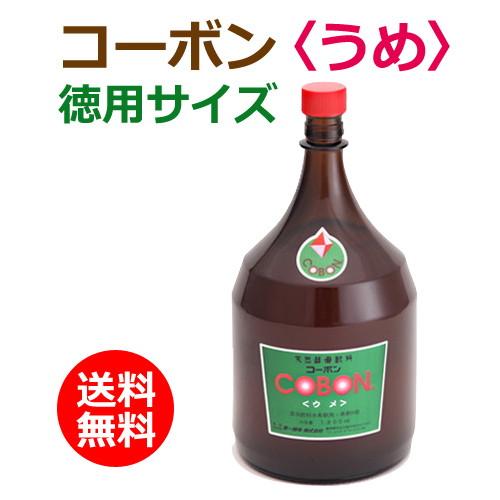 コーボン梅(うめ)徳用サイズ1800ml+バイオノーマライザー3袋付【第一酵母】【酵素・天然酵母飲料】