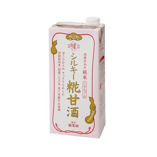 酒蔵仕込み 純米 シルキー糀甘酒(1000ml)×24個セット【福光屋】