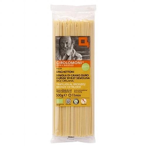 返品交換不可 小麦本来の味と香り 新商品 新型 強いコシをお楽しみください ジロロモーニ デュラム小麦 有機スパゲットーニ 創健社 500g