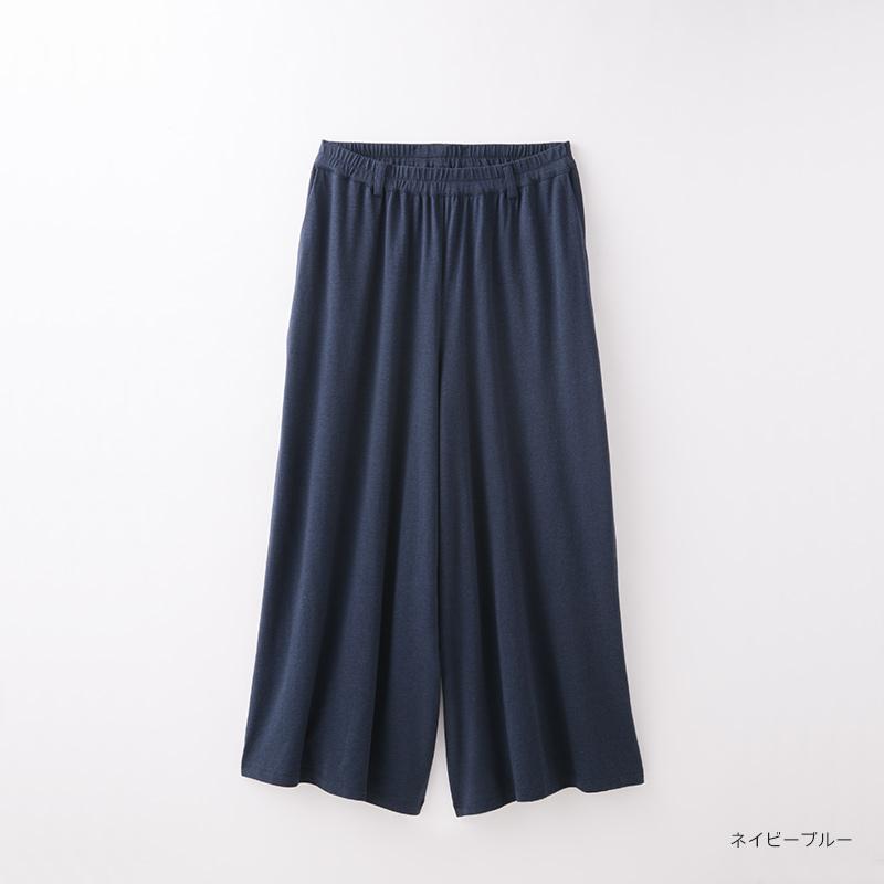 【竹布特典】TAKEFU フレア―パンツ ネイビーブルー 【ナファ生活研究所】