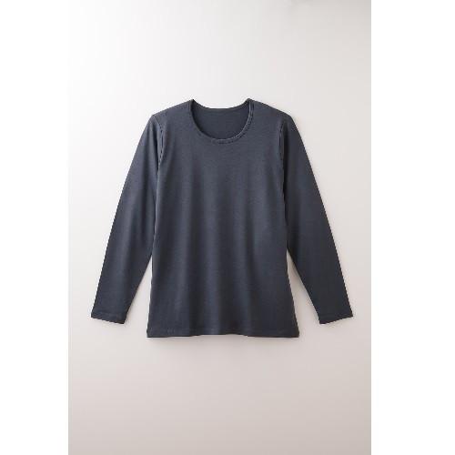【竹布特典】TAKEFU 長袖Tシャツ(Men's) スモーキーネイビー L 【ナファ生活研究所】