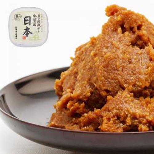 有機みそ日本(600g×6個セット)マルカワみそ【マルカワみその思いがこもった国産辛口みそ】※キャンセル不可