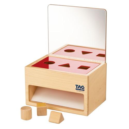 鏡の付いた形の分類箱(TGESC9)【TAG社/THINK&GROW】【5歳頃から】