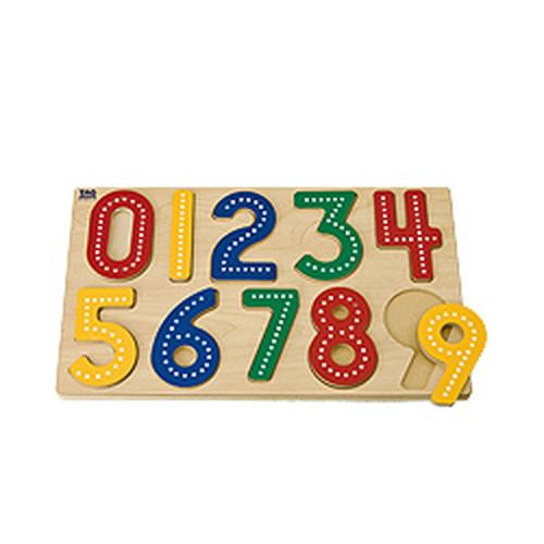 指先でなぞって数字を学ぶ教具(SM-31)【TAGTOYS(タグトイ)】