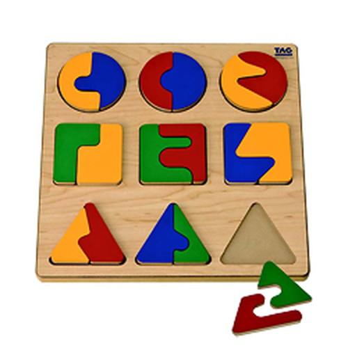 複雑な分割関係を学ぶパズル(ESC-1)【TAGTOYS(タグトイ)】