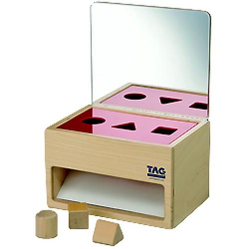鏡の付いた形の分類箱(ESC-9)【TAGTOYS(タグトイ)】