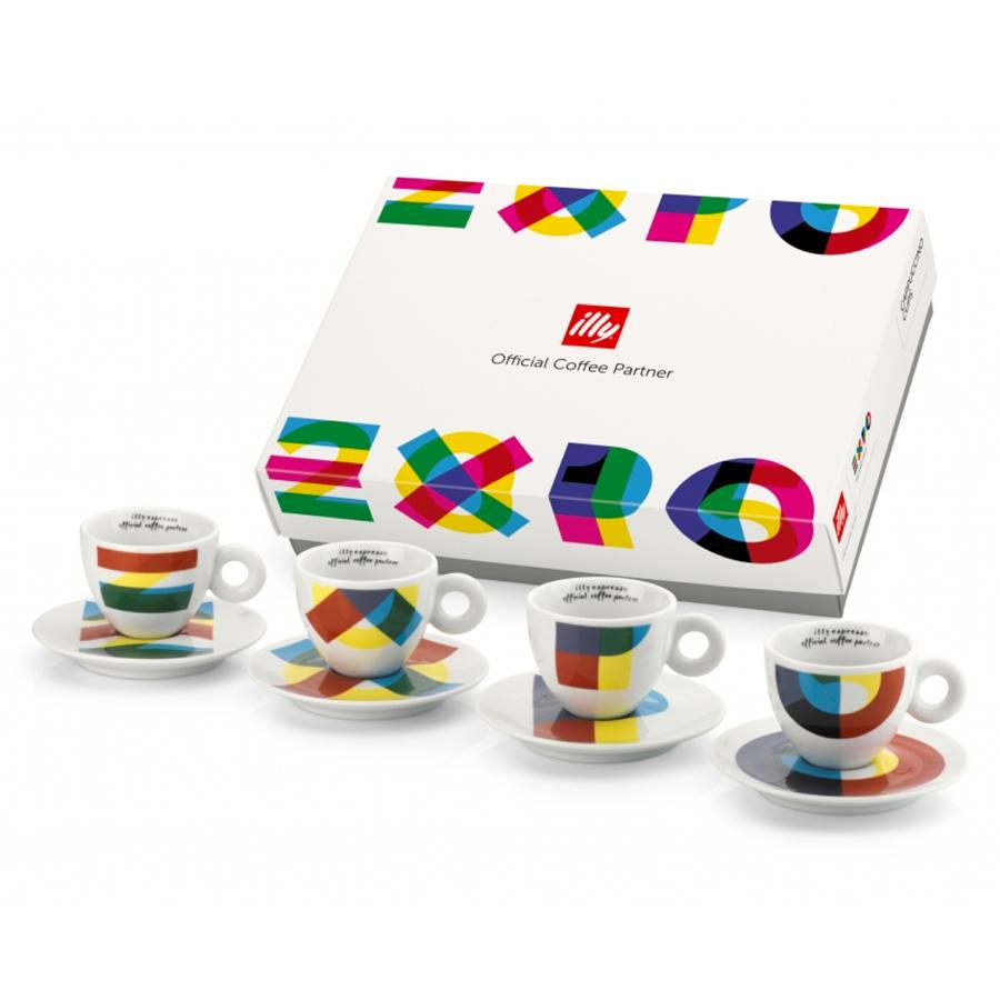 イリーギフトセット EXPO2015カプチーノカップ&ソーサー4客セット