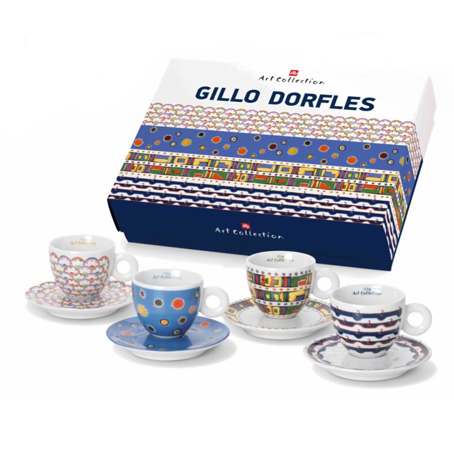 イリー アートコレクションilly Art Collectionジッロ・ドルフレスGILLO DORFLESカプチーノカップ4客セット