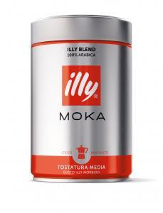 イリー/illy エスプレッソ【粉・パウダー】モカ(ミディアムロースト)250g12個(12缶)【賞味期限6ヶ月以上】