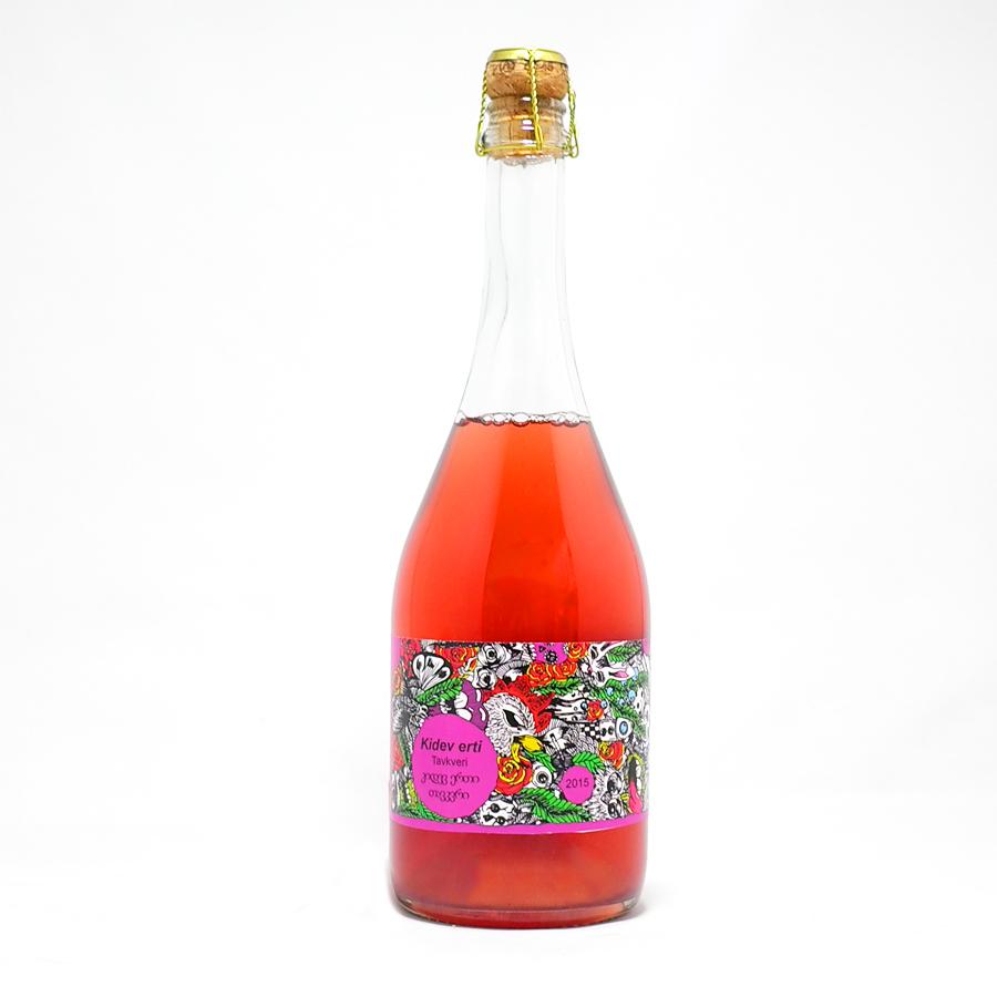ラパティワインズ(Lapati Wines)タヴェリ(Tavkveri)ロゼスパークリング【2015】750ml(Kidev Erti)(ジョージアワイン)