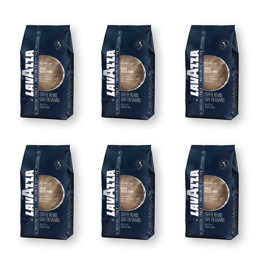 ラバッツァ(LAVAZZA)エスプレッソ ゴールドセレクション(豆)1kg■■■6袋■■■【賞味期限6ヶ月以上】