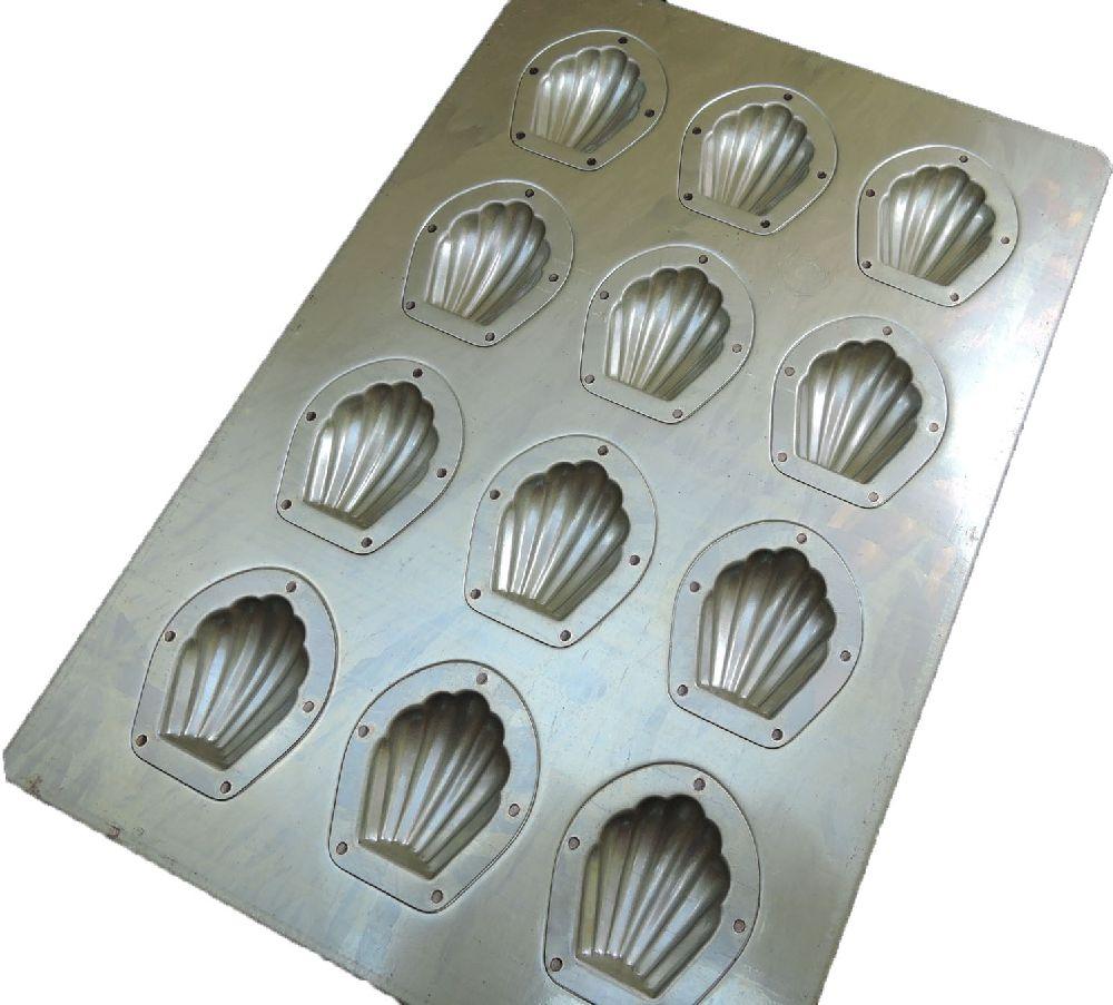 千代田金属 マドレーヌ型 ミニマドレーヌ型天板 12取 通常シリコン加工