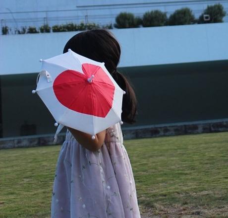傘 かわいい ハート柄 ミニチュアタイプ ハロウィン 結婚式 イベント用 ごっこ遊び用 お人形用 ディスプレイ用 アクセサリー用 50本セット
