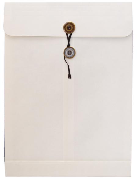 角2保存袋 保存袋 ホワイト封筒 白封筒 書類の保存等に サイズ250×34×342mm 角2封筒 『1年保証』 マチ 白 爆買い送料無料 紐付 100枚 Sホワイト ひも付 120g