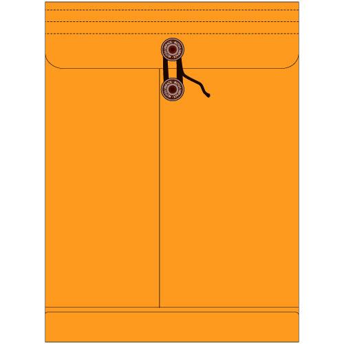 角1保存袋(マチ・紐付) ハイデラックスカラー キンチャ色保存袋 角1 保存封筒 保存 サイズ270×45×380mm厚さ 185g/m2 100枚/1箱