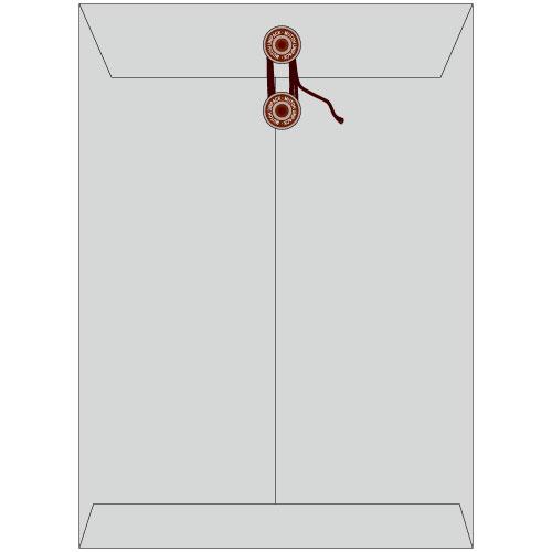 角2保存袋 紐付(マチなし)ハイデラックスカラー グレイ色保存袋 角2 保存封筒 保存 サイズ240×332mm厚さ 185g/m2 100枚/1箱